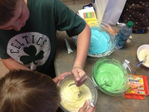Boy making Cupcakes Celtic Shirt