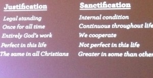 Justification versus Sanctification