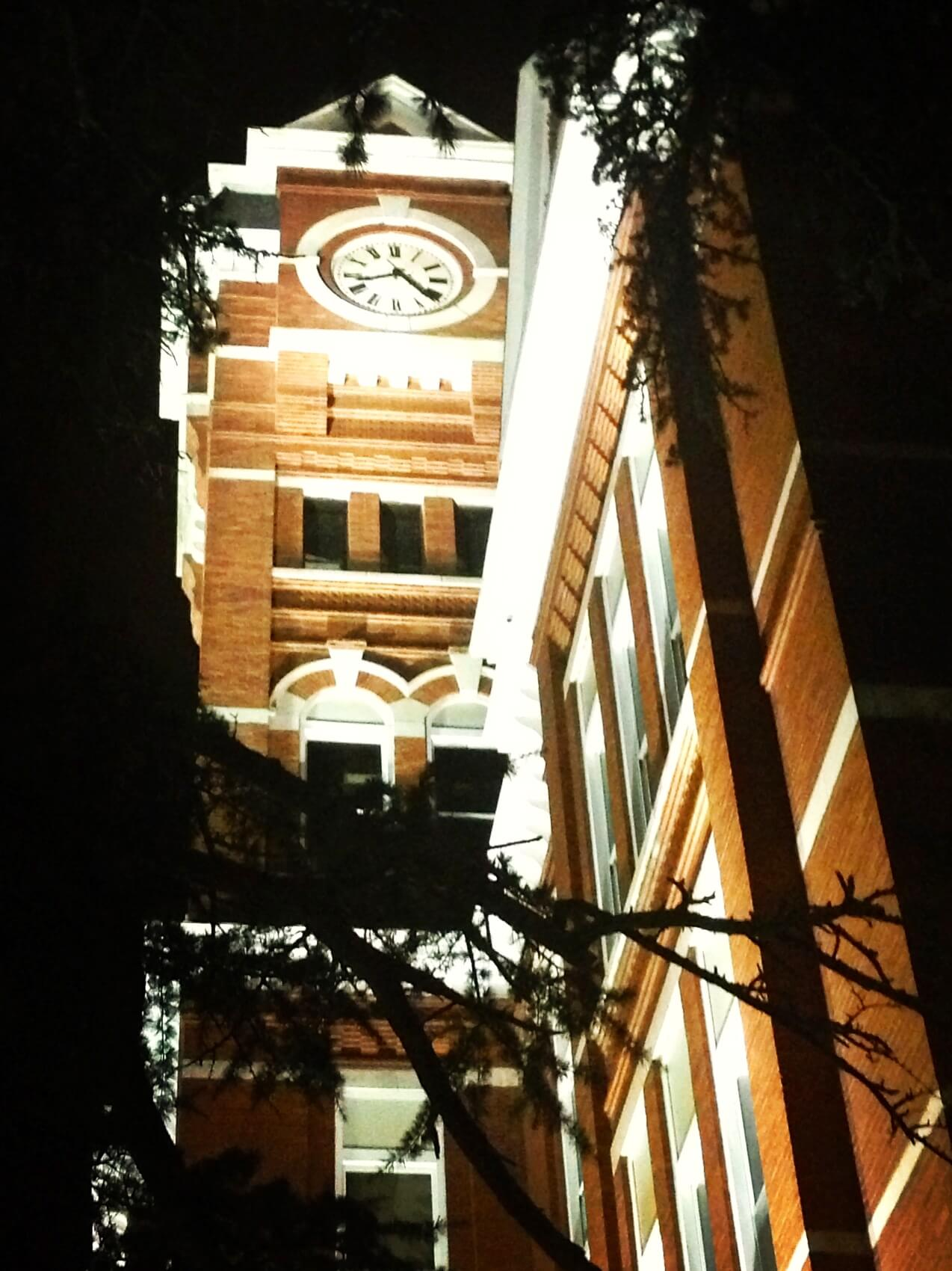 Samford Hall at Night Auburn
