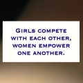 Girls compete with each other